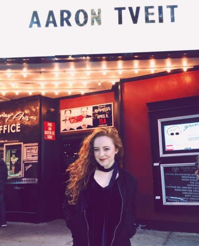 D'Arcy Green at Aaron Tveit's concert